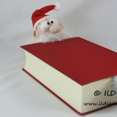 Santa Claus Bookmark crochet by IlDikko