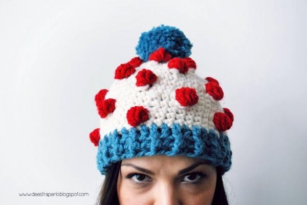 A winter hat - Free crochet pattern