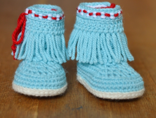 Baby Moccasin Fringe Booties crochet pattern ...