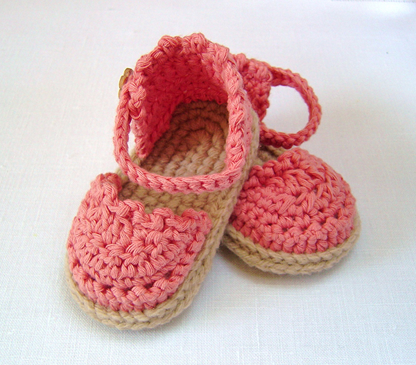 Crochet Patterns For Baby Shoes And Sandals : Baby espadrille sandals crochet pattern ...
