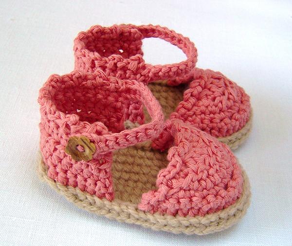 Baby espadrille sandals crochet pattern ...