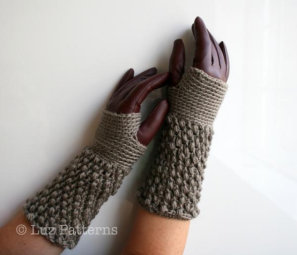 Barley Puff Arm Warmers Crochet Pattern Allcrochetpatterns