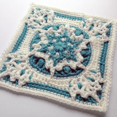 Blizzard warning square - Free crochet pattern