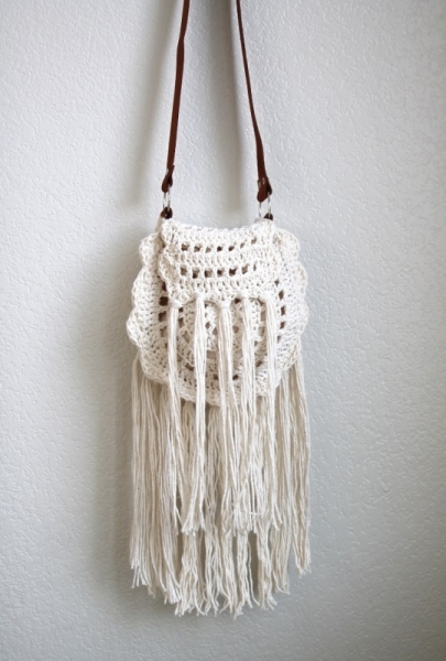 Boho Tassel Crochet Bag Free Crochet Pattern
