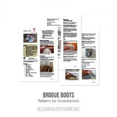 Brogue boot crochet pattern by Inventorium