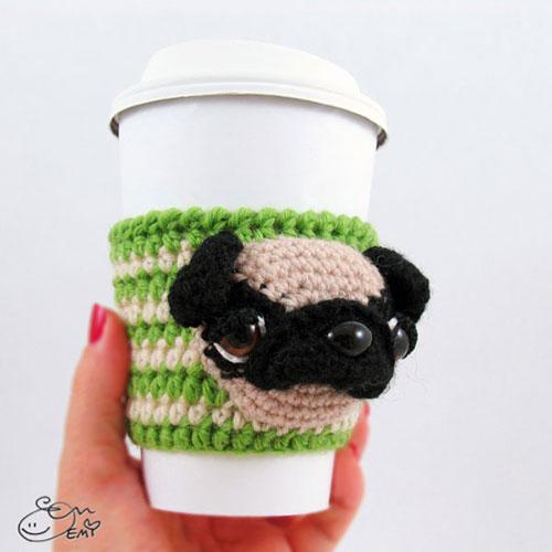 Mini Amigurumi Pug Free Crochet Pattern | móhu | 500x500