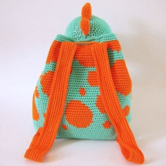 Dino Backpack crochet pattern by Chabepatterns