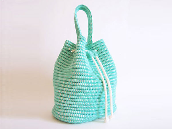Drawstring Bag crochet pattern - Allcrochetpatterns.net