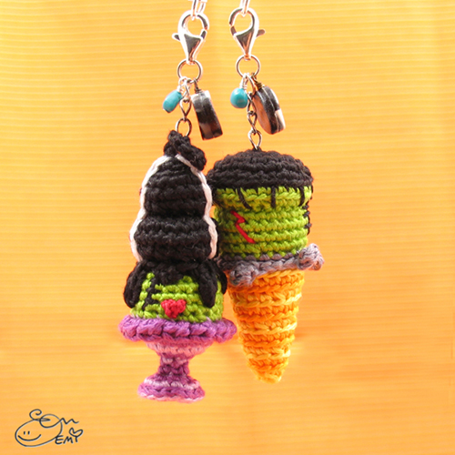 frankenstein and the bride earrings crochet pattern. Black Bedroom Furniture Sets. Home Design Ideas