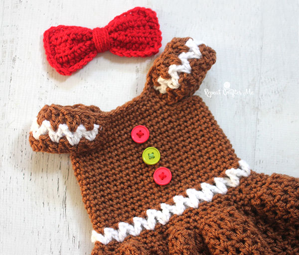 All Crochet Com : Gingerbread girl dress - Free crochet pattern