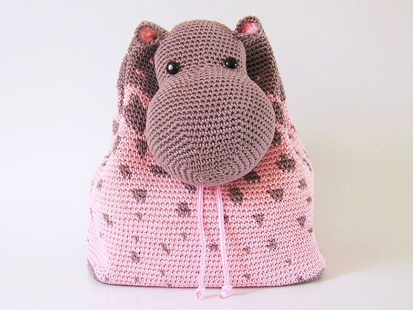 Crochet Backpack Pattern : ... .net > patterns > Chabepatternss patterns > Hippo Backpack