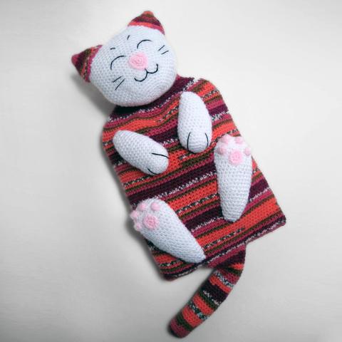 Hot Water Bottle Cover Cat crochet pattern - Allcrochetpatterns.net