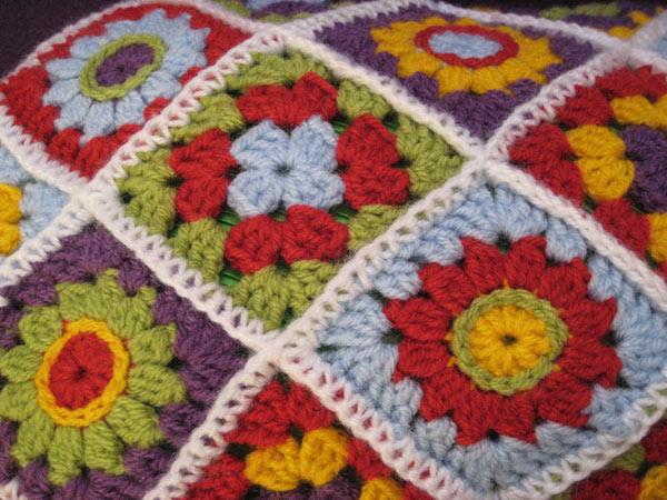 Crochet Granny Square Hot Water Bottle Cover Pattern : Hot Water Bottle Cover Diagonal Granny Square crochet ...