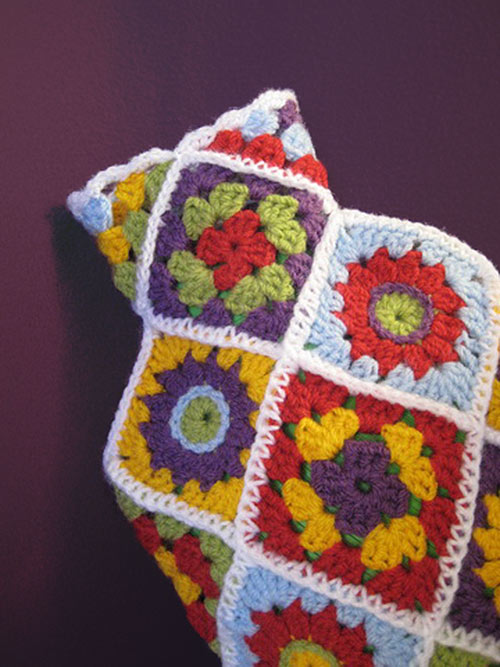 Hot Water Bottle Cover Diagonal Granny Square Crochet Pattern