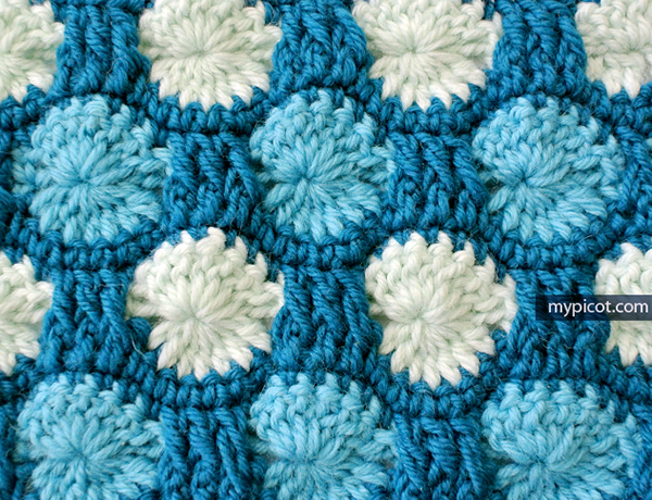 All Crochet Com : Multicolored stitch blanket - Free crochet pattern