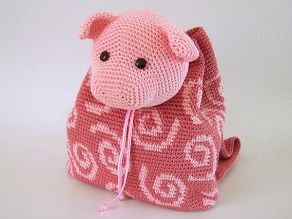 Pig Backpack crochet pattern - Allcrochetpatterns.net