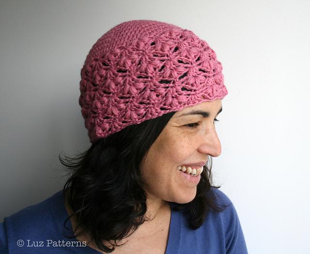 Pink Lace Beanie Hat Crochet Pattern Allcrochetpatterns