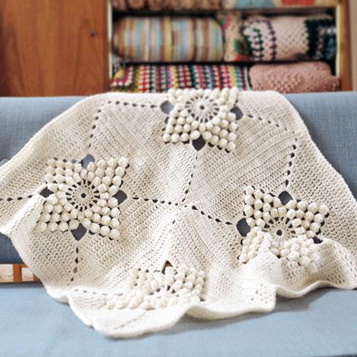 Free Crochet Thermal Blanket Pattern  : Smitten blanket - Free crochet pattern