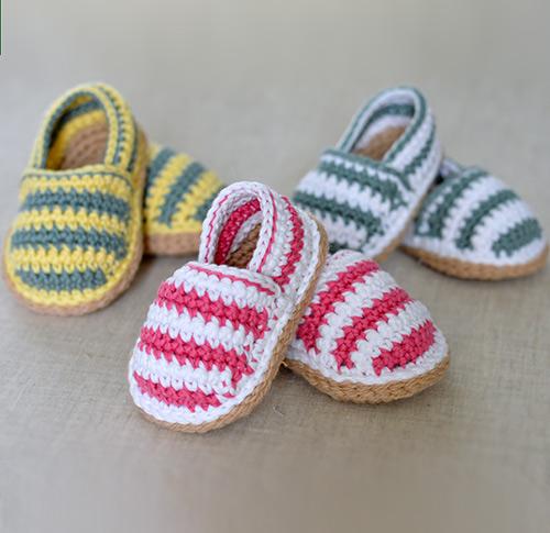 Stripy Espadrille Shoes Crochet Pattern Allcrochetpatterns