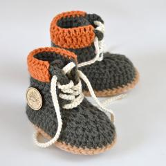 Timberland style baby booties crochet by Matilda's Meadow