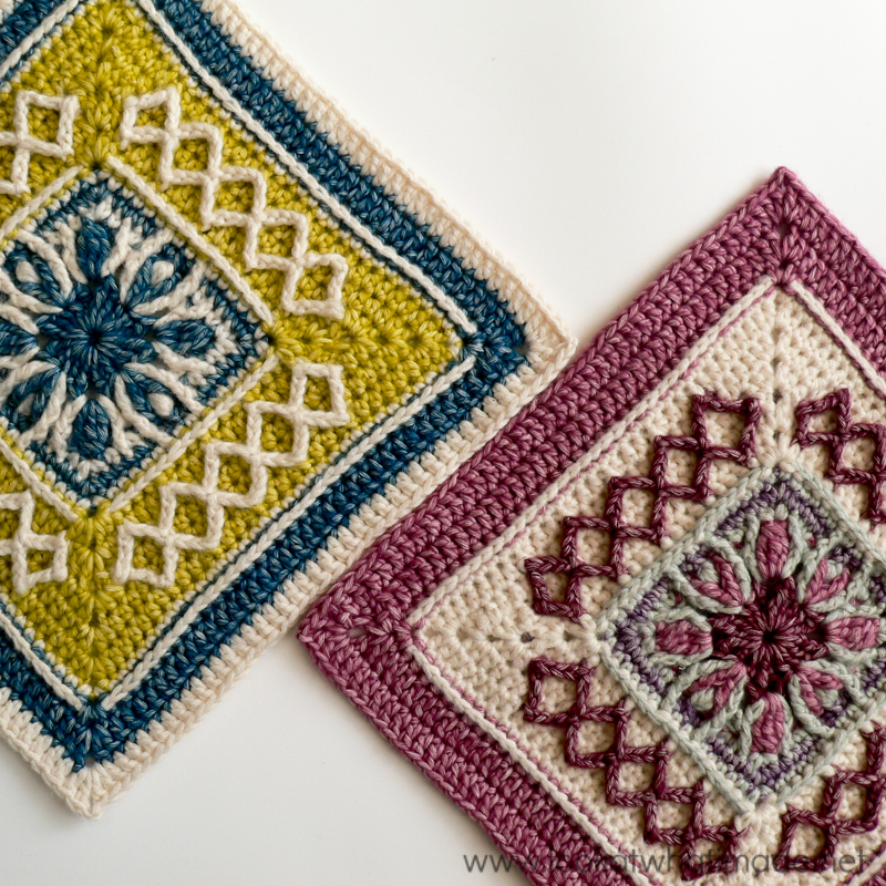 Crocheting Net : Winter Cottage Crochet Square - Free crochet pattern