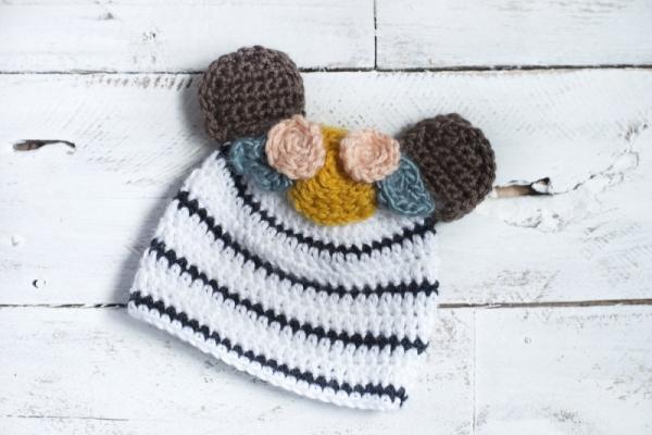 Baby Bear Cub Hat Free Crochet Pattern