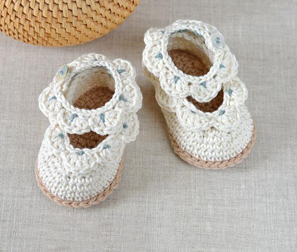 Scallop Edge Baby Sandals Crochet Pattern Allcrochetpatterns