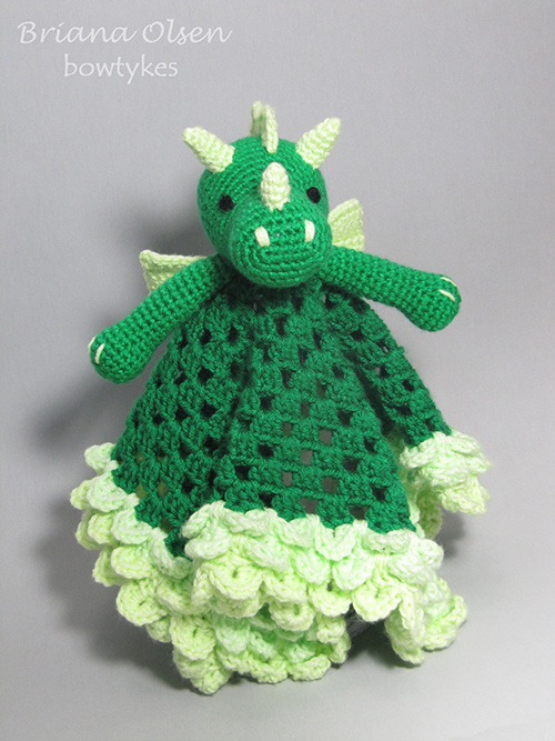 Free Pattern Crochet Lovey : Dragon Lovey crochet pattern - Allcrochetpatterns.net