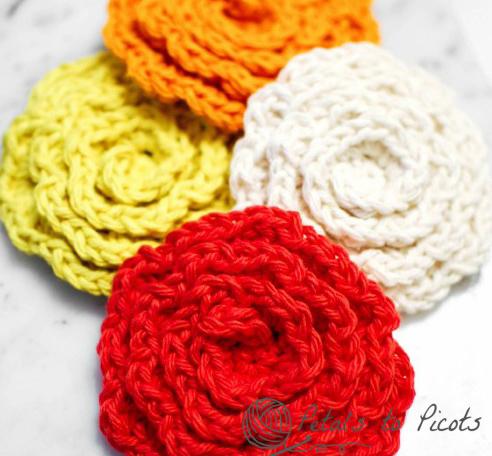 Flower Cleansing Pads Free Crochet Pattern