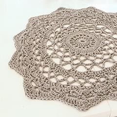 Giant doily rug amigurumi crochet pattern