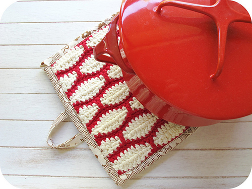 hooked and bound hot pads free crochet pattern