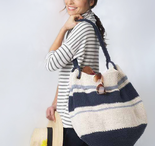Nautical Hobo Bag Free Crochet Pattern Simple Crochet Hobo Bag Pattern