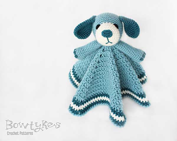 Puppy dog Lovey crochet pattern - Allcrochetpatterns.net