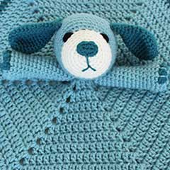 Puppy dog Lovey crochet pattern - Allcrochetpatterns.net