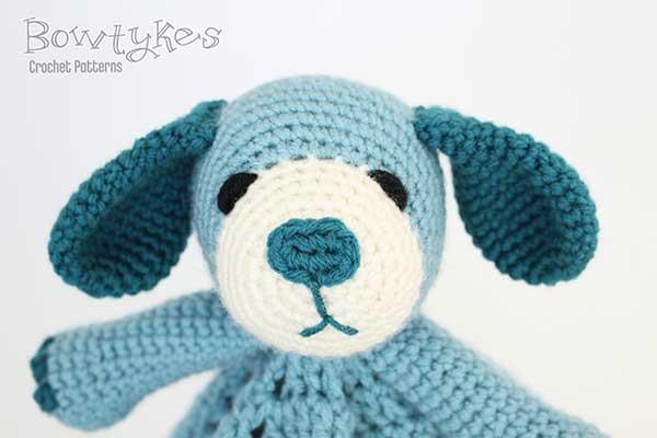 Free Crochet Dog Lovey Pattern : Puppy dog Lovey crochet pattern - Allcrochetpatterns.net