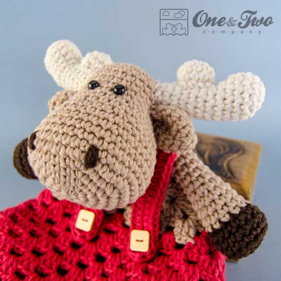 Free Amigurumi Moose Pattern : Reindeer and Moose lovey crochet pattern ...
