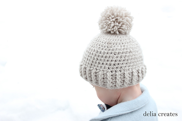 Ribbed beanie for kids - Free crochet pattern
