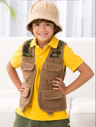 allcrochetpatterns net  gt  Baby and Kids  gt  safari kids outfitSafari Outfit For Kids