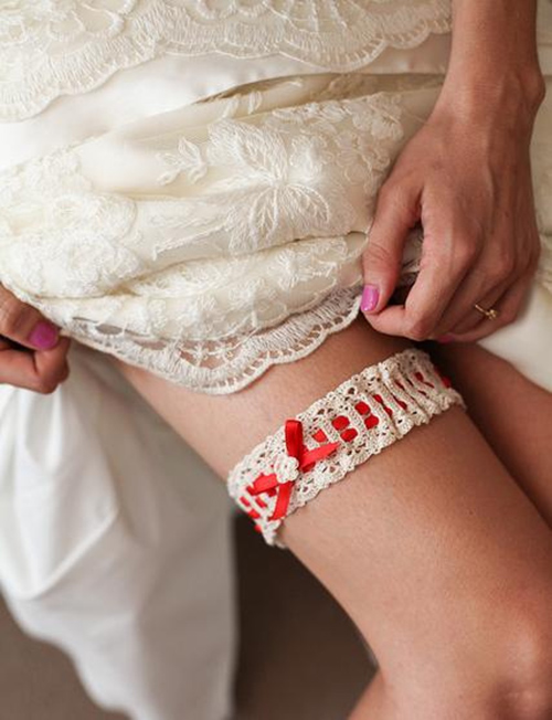 Stephanies Lace Wedding Garter Free Crochet Pattern