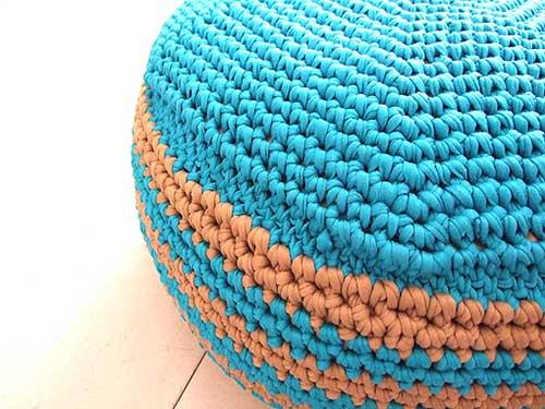 Storage Pouf Free Crochet Pattern
